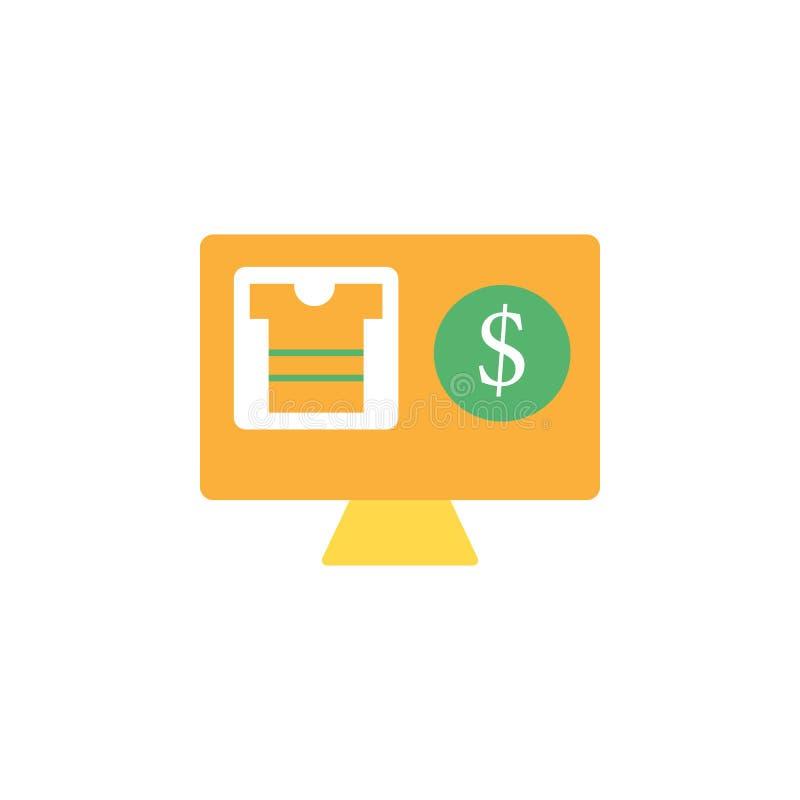 Opérations bancaires, icône de commerce électronique Élément d'icône d'argent et d'opérations bancaires de Web pour des applis mo illustration stock