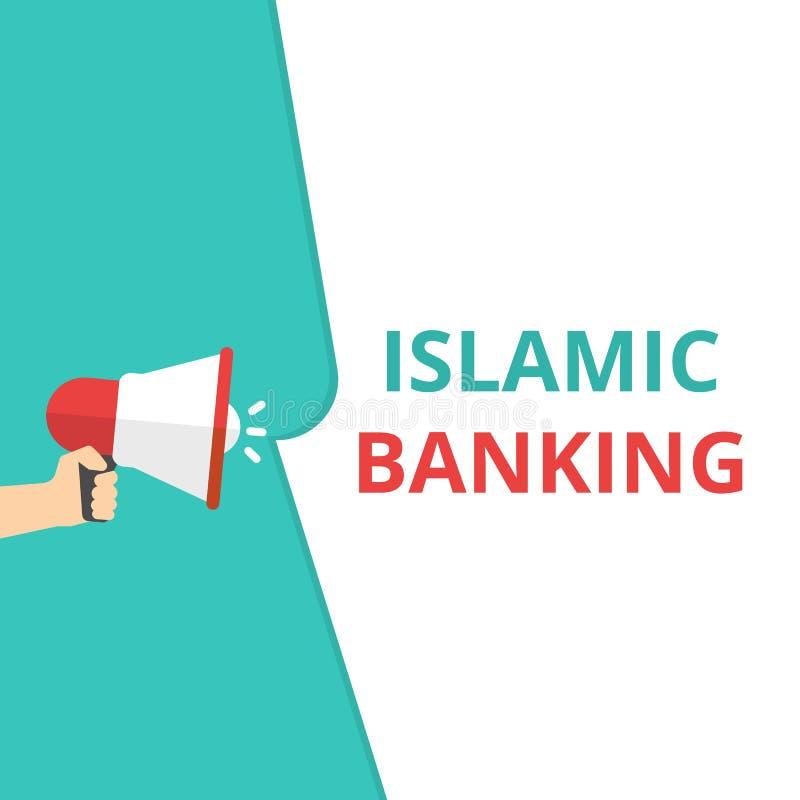 Opérations bancaires islamiques des textes d'écriture de Word illustration stock