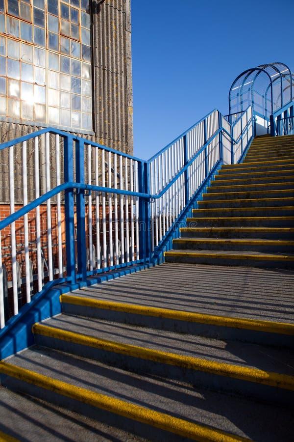 Opérations d'entrepôt d'escalier photos libres de droits