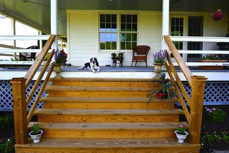 Opérations de porche photo stock