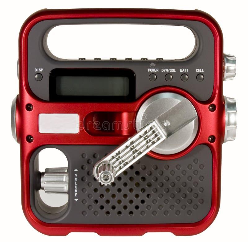 Opérez la radio à la manivelle de secours photographie stock libre de droits