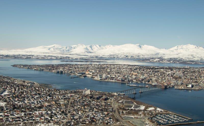Opóźniona zima w Tromso zdjęcia stock