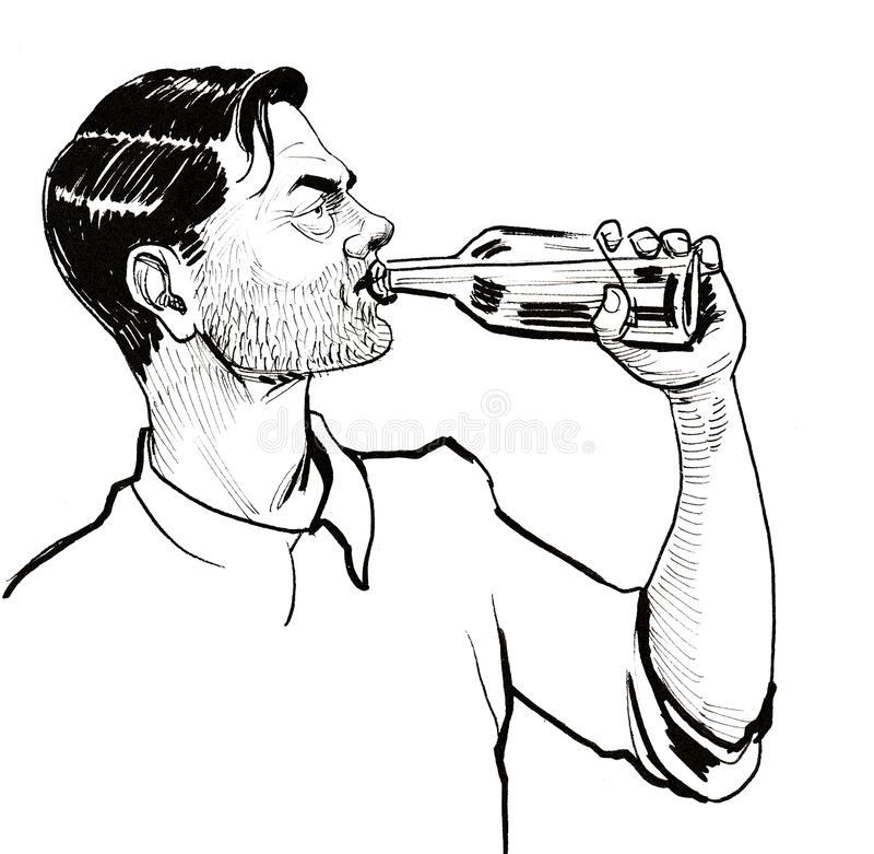 Opój i alkohol ilustracja wektor