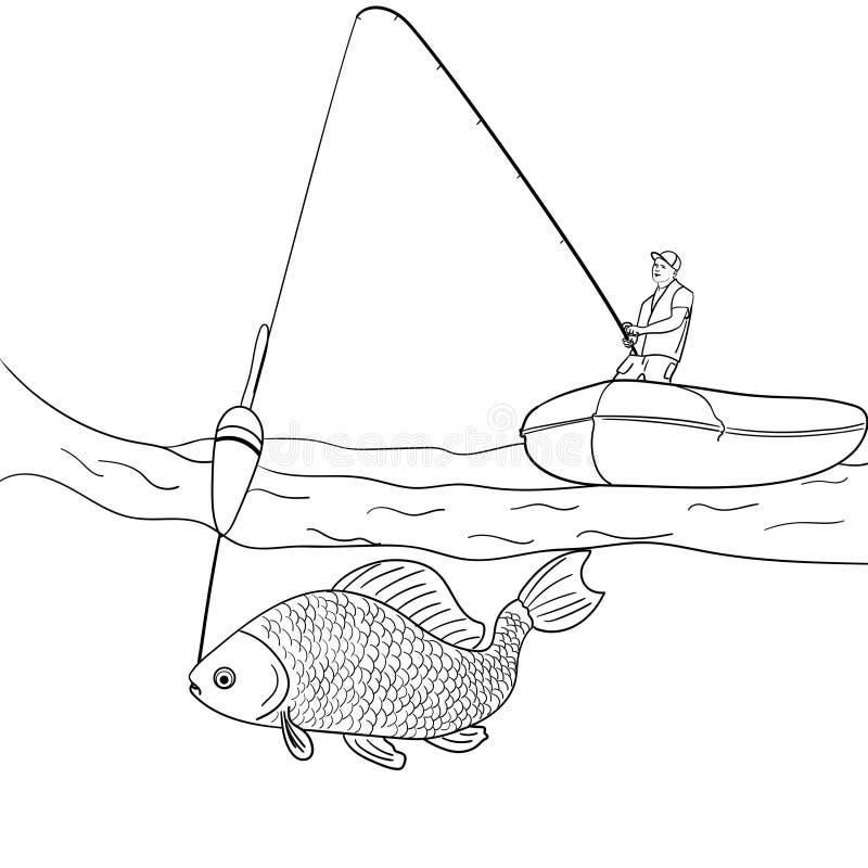 Opóngase En El Hombre Blanco Del Fondo Que Pesca En El Mar Abierto ...