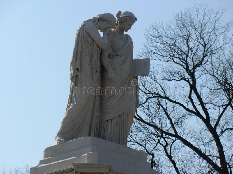 Opłakiwać damy statuę, washington dc fotografia stock