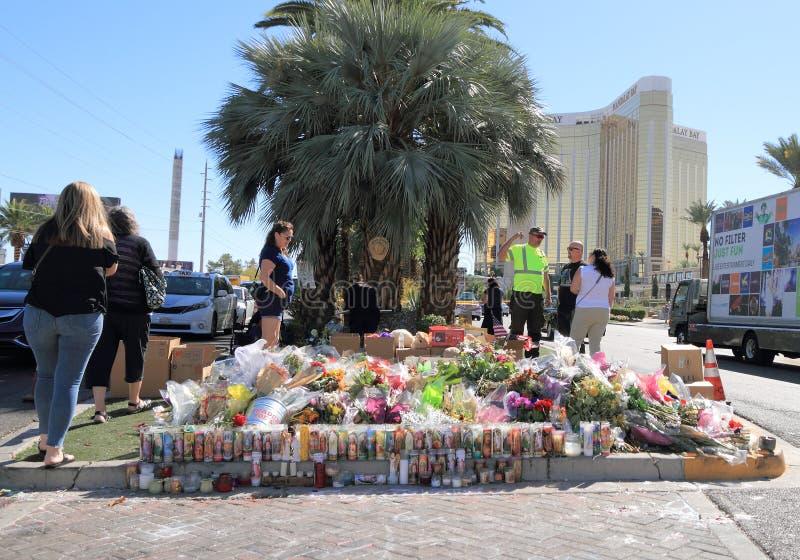 Opłakiwać w Las Vegas po Mszalnej strzelaniny 2017 obraz royalty free
