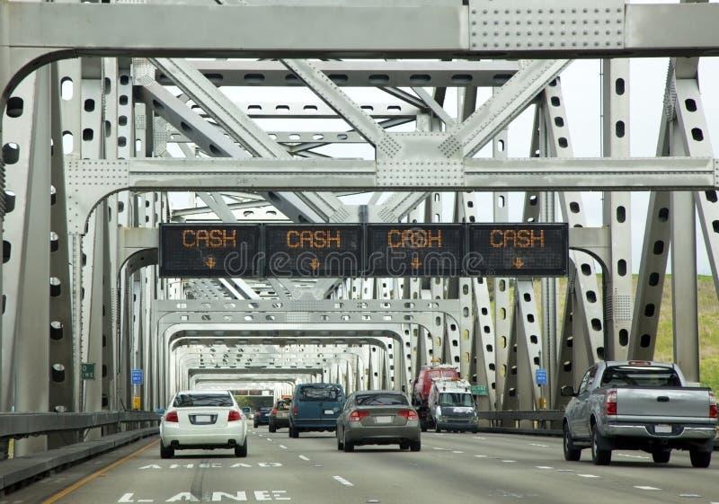 Opłata drogowa mostu ruch drogowy zdjęcia royalty free