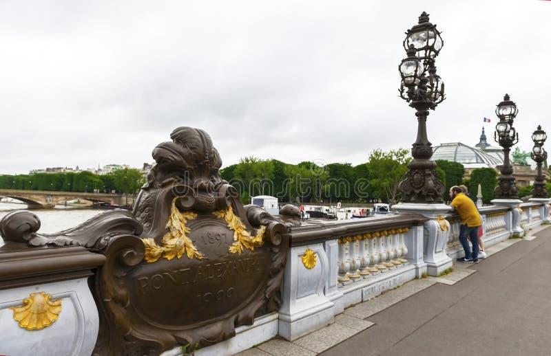 Op Alexander III-Brug royalty-vrije stock fotografie
