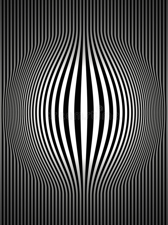 Op Art Bulging Vertical Stripes Black and White 2. Op Art Bulging Vertical Stripes Black and White Two By Strict Contrast Laws