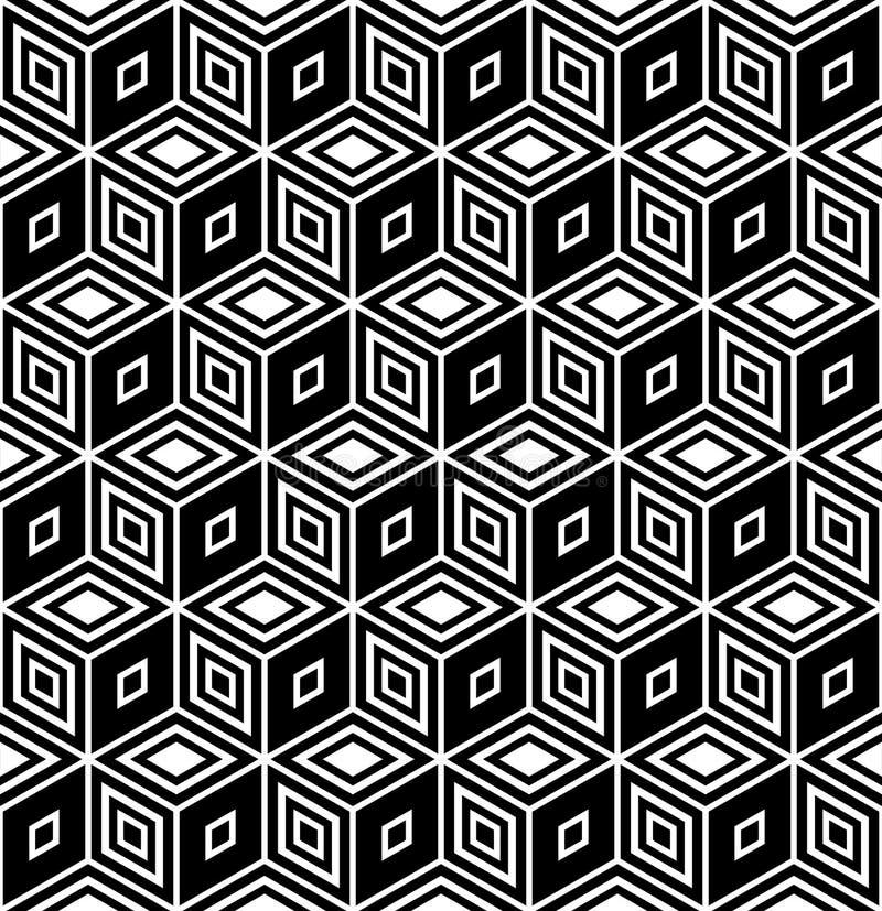 Download Op Art Design. Seamless Rhombuses Pattern. Stock Vector - Illustration of axonometry, editable: 18797099