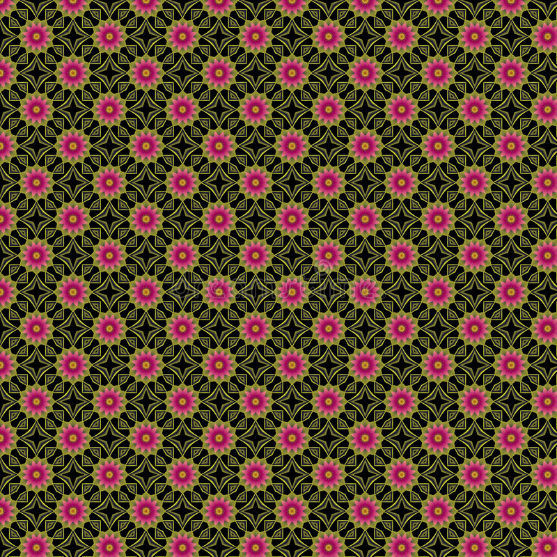 Op Art Flowers royalty free stock photos