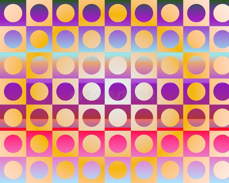 Download Op Art Go To The Party In Circles By Gradient Stock Illustration - Illustration of mosaic, decoration: 5289099