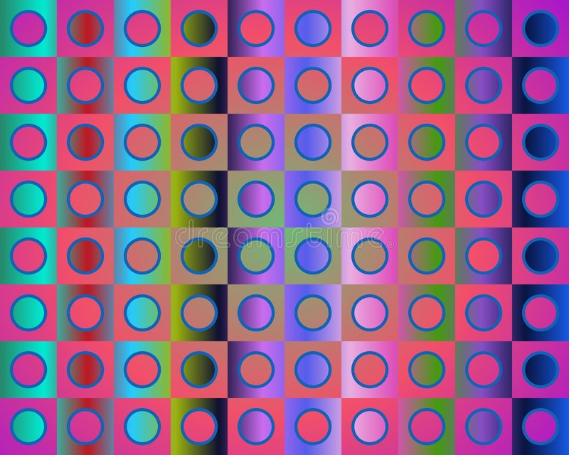 Download Op Art Go To The Party In Red Blue And Green Stock Illustration - Image: 5289116