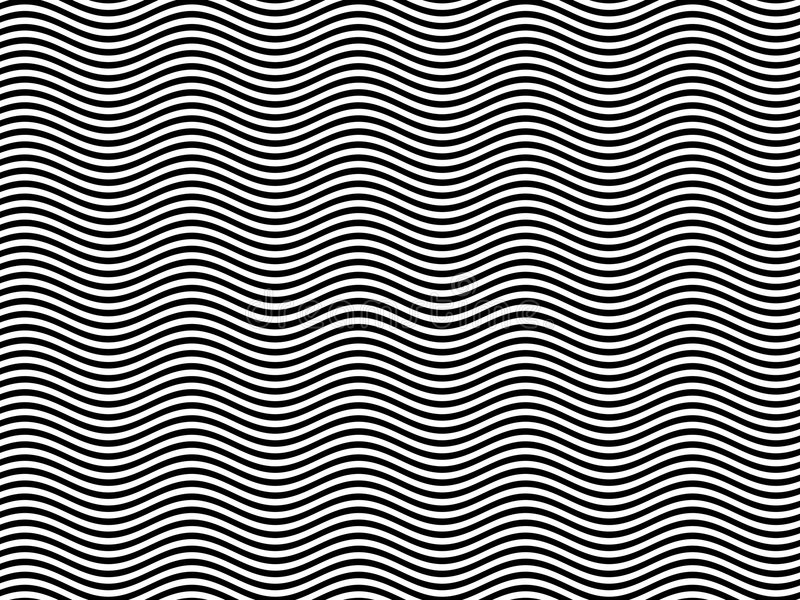 Line Design Op Art : Op art homage to br black white horizontal waves stock