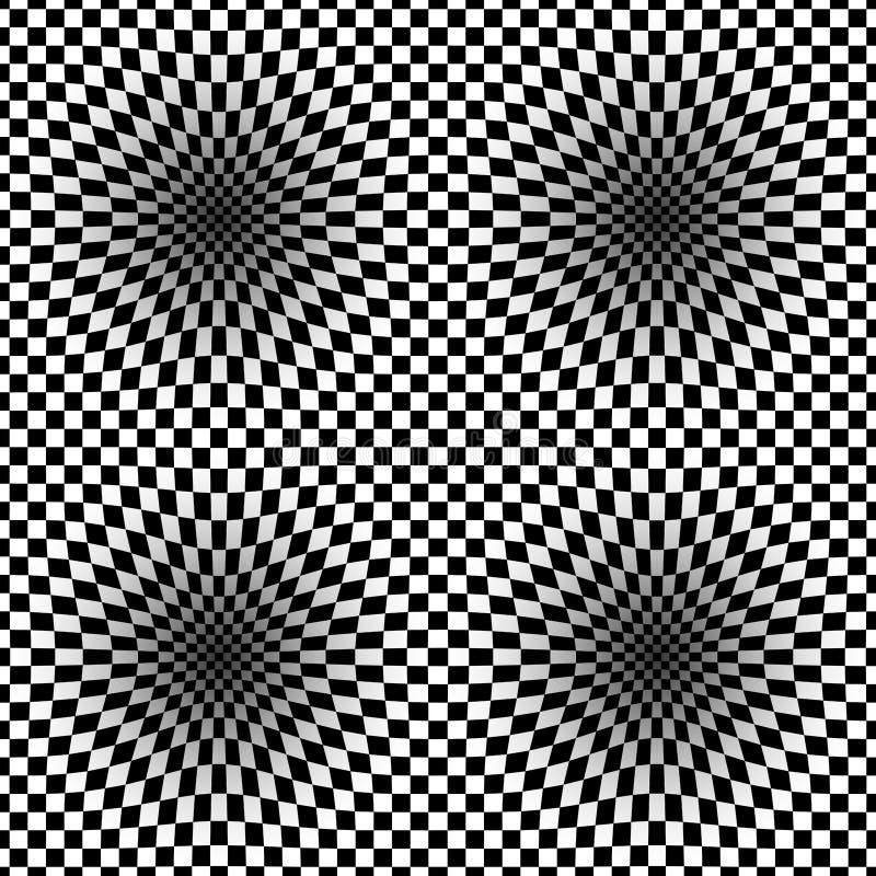 Op Art Vector Seamless Pattern royaltyfri bild