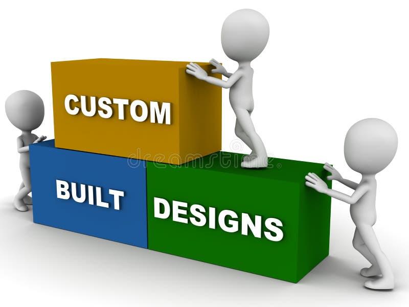 Op bestelling gemaakt ontwerp royalty-vrije illustratie