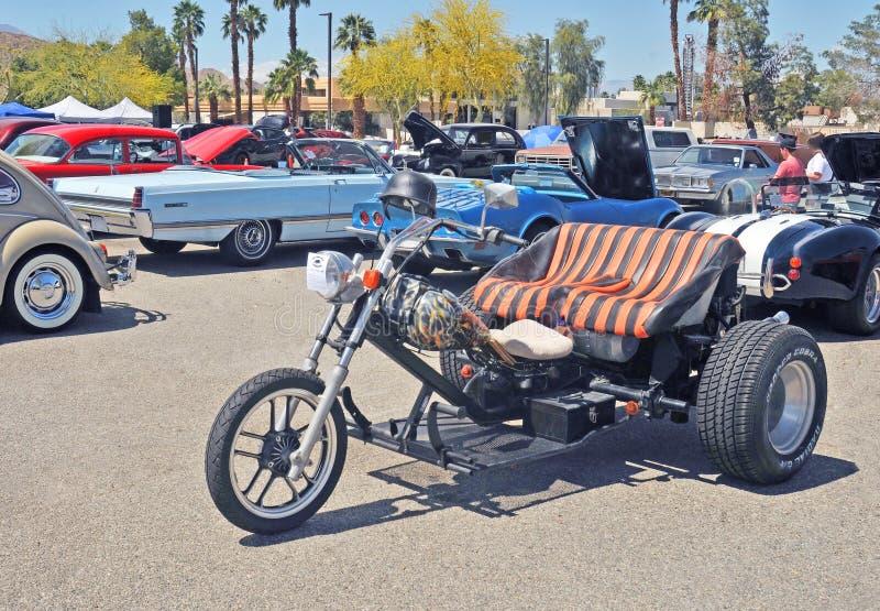Op bestelling gemaakte Achtermotormotorfiets stock afbeelding