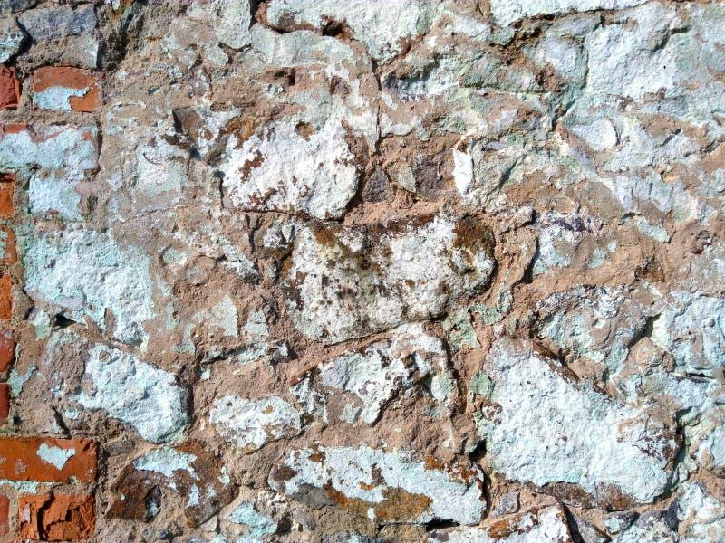 Op de achtergrond is een muur van stenen royalty-vrije stock afbeelding