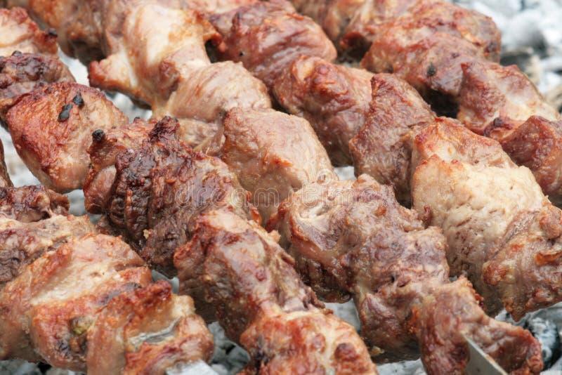 Op de barbecue. stock fotografie