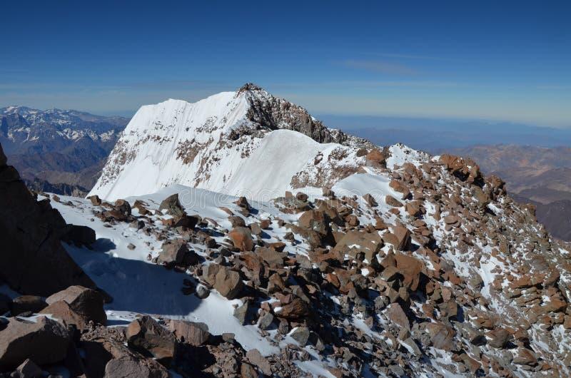 Op de bovenkant van Aconcaqua stock afbeelding