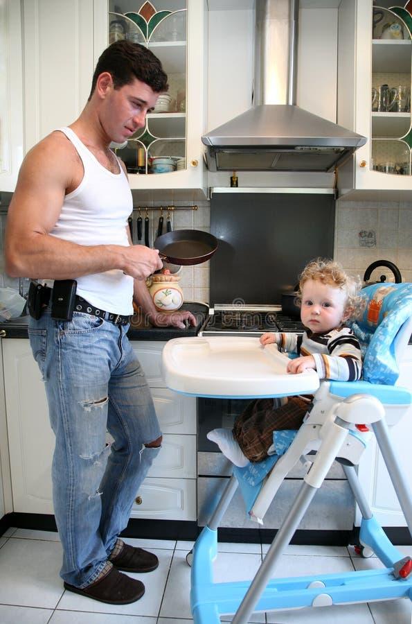 Op de keuken stock afbeeldingen