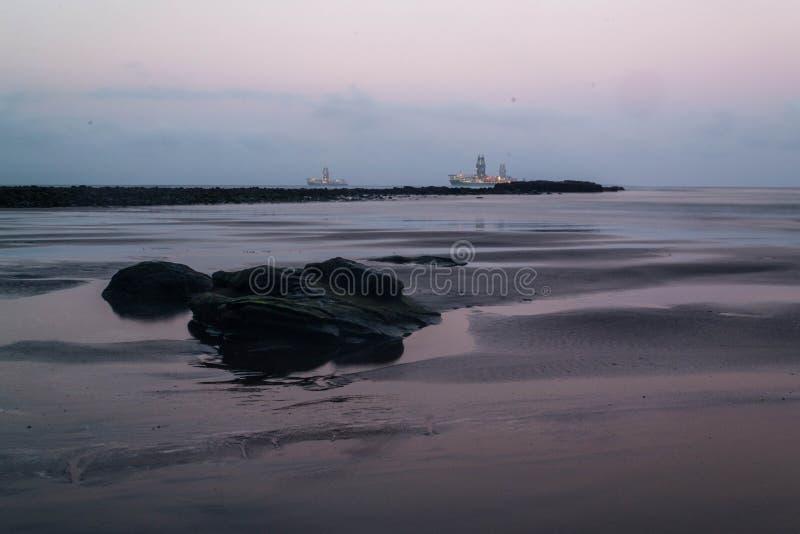 Op de kust royalty-vrije stock foto
