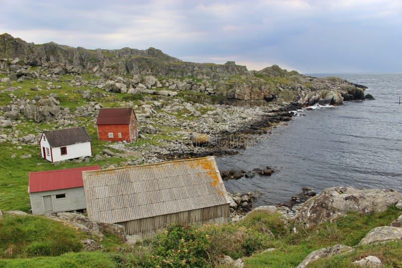 Op de kust van het eiland Utsira in Noorwegen, Europa royalty-vrije stock afbeeldingen