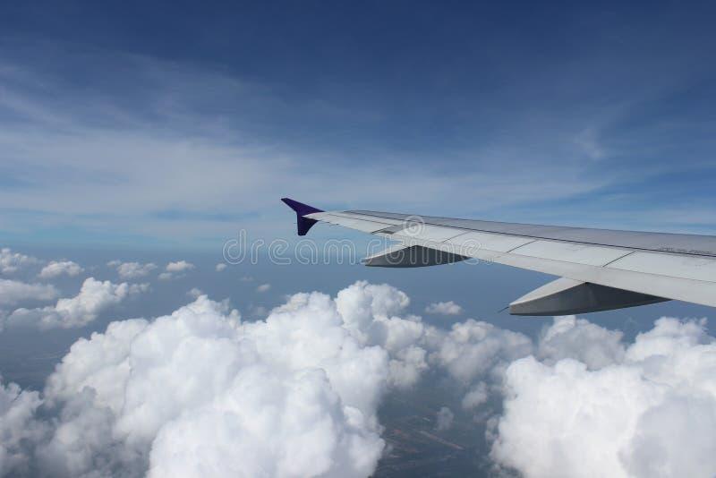 Op in de lucht royalty-vrije stock afbeelding