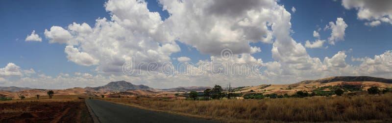 Op de manier aan Diego Suarez, Noordelijk Madagascar stock fotografie