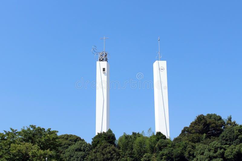 Op de manier aan Xavier Church in Yamaguchi, Japan royalty-vrije stock afbeelding
