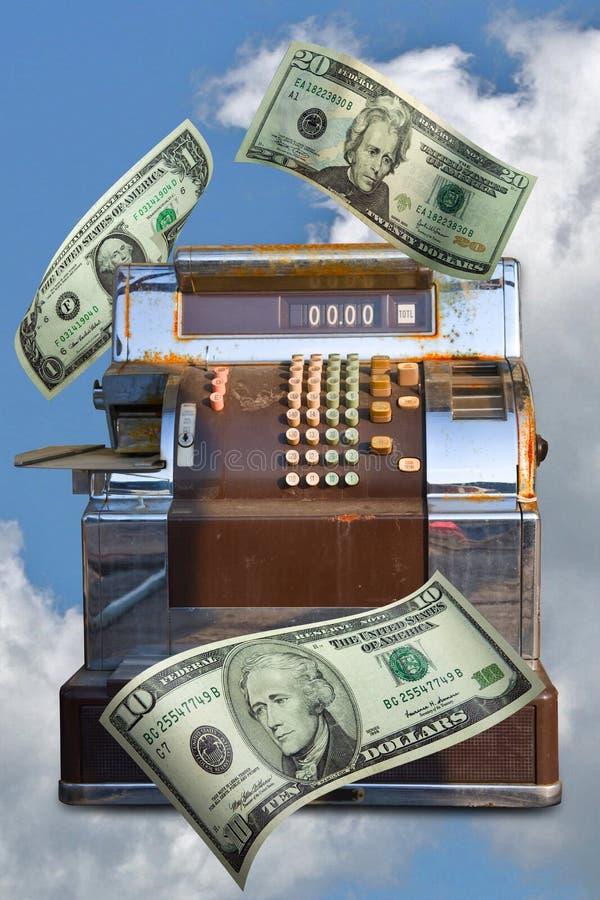 Op de markt brengend Geld royalty-vrije illustratie