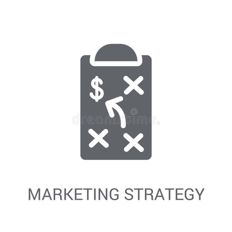Op de markt brengend strategiepictogram  royalty-vrije illustratie