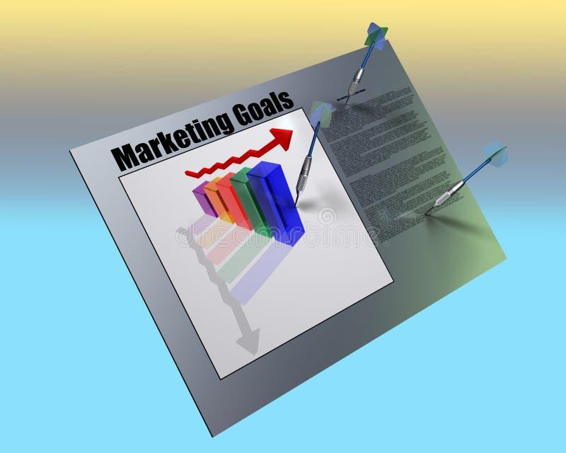 Op de markt brengende gids stock illustratie