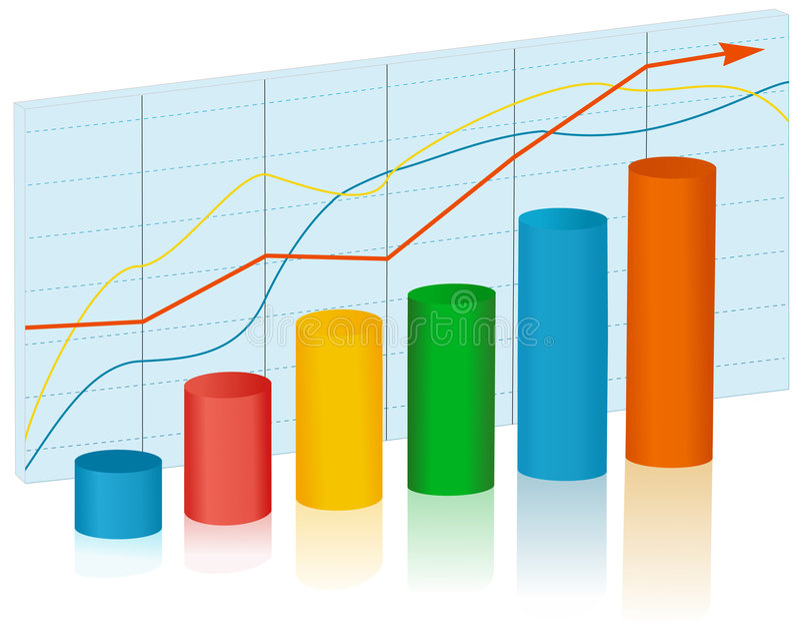 Op de markt brengende grafiek royalty-vrije illustratie