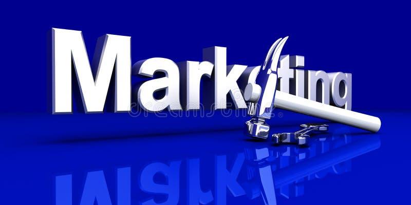 Op de markt brengende Hulpmiddelen vector illustratie