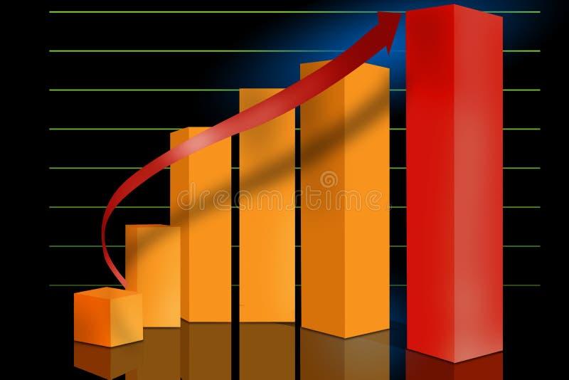 Op de markt brengende verkoopgrafiek stock illustratie