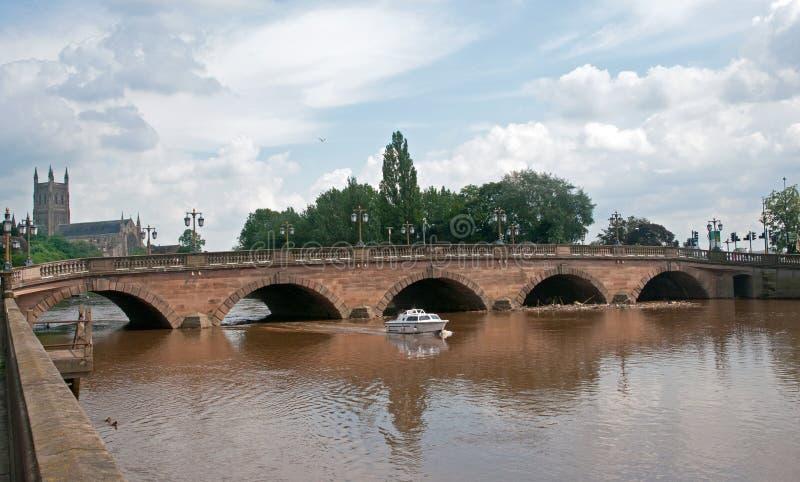 Op de rivier stock fotografie