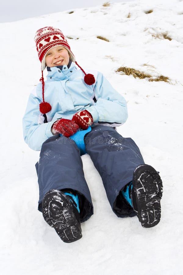 Op de sneeuw stock foto's