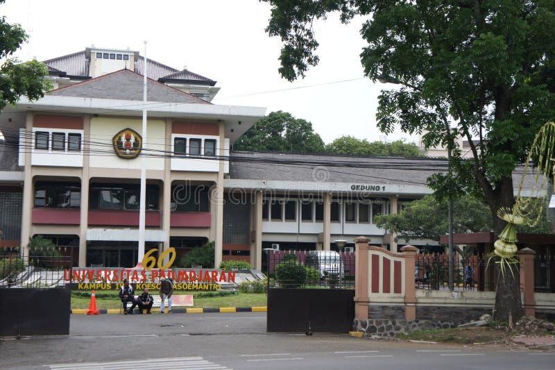 Op de straat van Bandung in West-Java stock fotografie