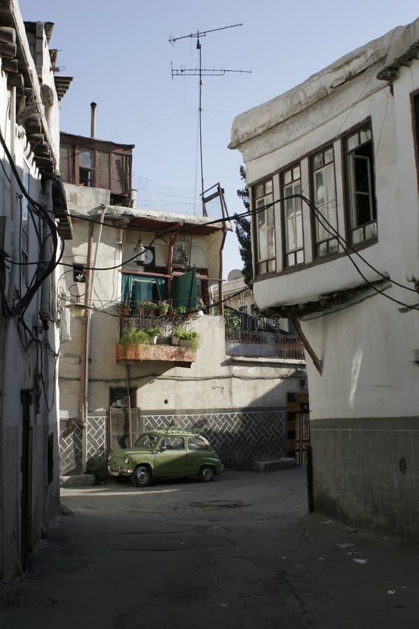 Op de straat van Damascus, Syrië royalty-vrije stock foto