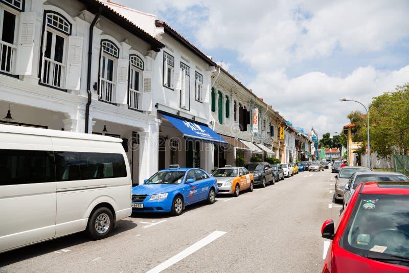 Op de straten Kampong Glam in Singapore stock afbeelding