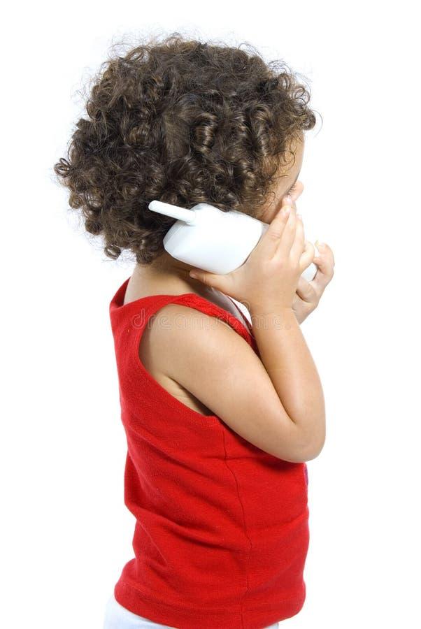 Op de Telefoon stock afbeelding