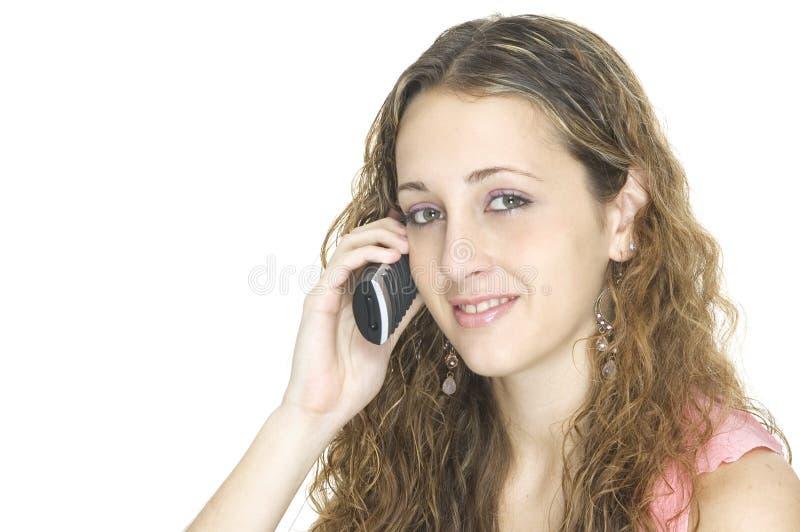 Op de Telefoon stock foto's