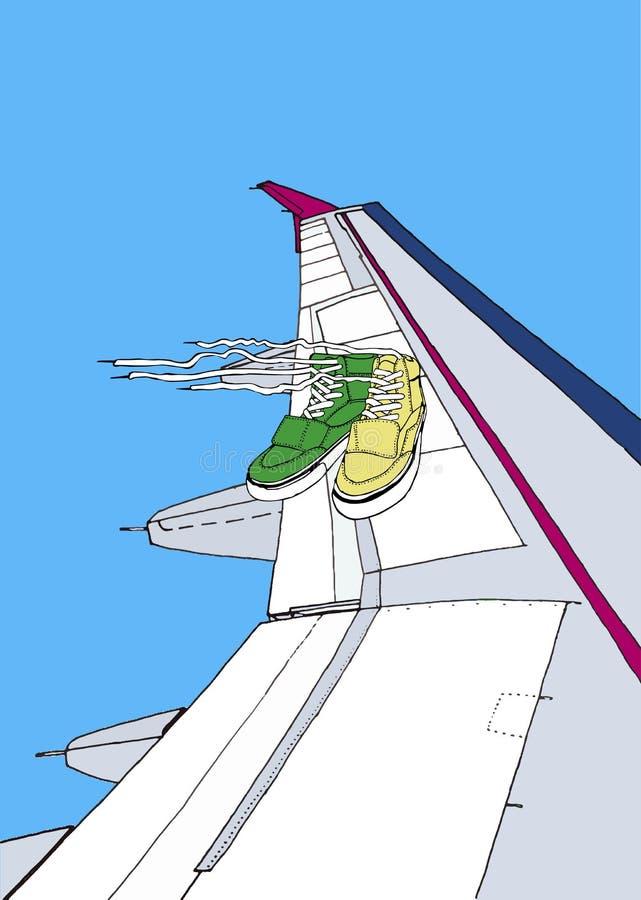 Op de vleugel royalty-vrije stock afbeelding