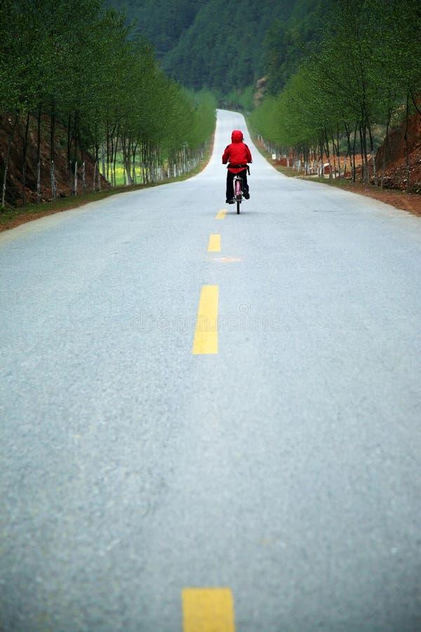 Op de weg stock afbeeldingen