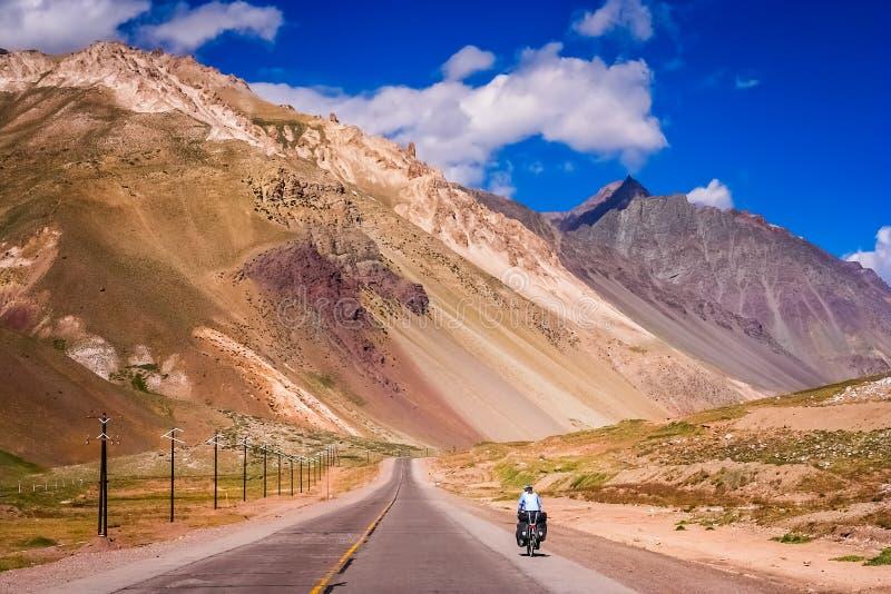 Op de weg aan Chili stock foto
