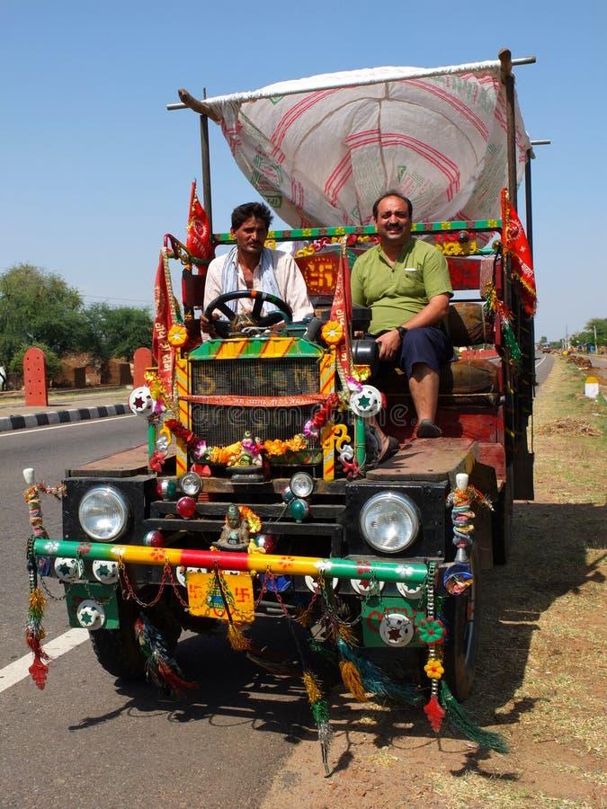 Op de weg in India royalty-vrije stock foto