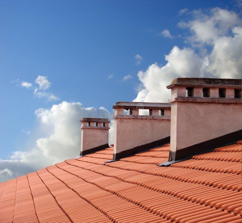 Op een dak royalty-vrije stock fotografie