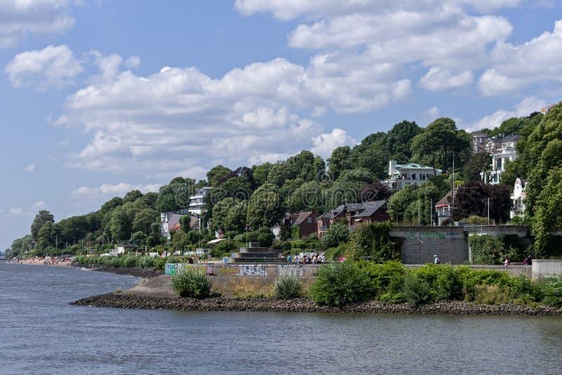 Op Elbe in Hamburg royalty-vrije stock afbeeldingen