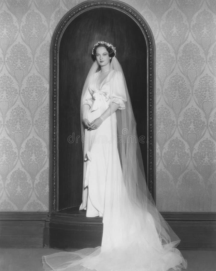 Op haar huwelijksdag royalty-vrije stock afbeelding